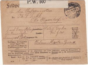 GERMANY - ARGENTINA….WW1 GERMAN POW from SMS CAP TRAFALGAR…