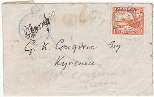 CYPRUS - M.E.F…..NICOSIA to TROODOS forwarded to KYRENIA then TURNED & used AGAIN to M.E.F….