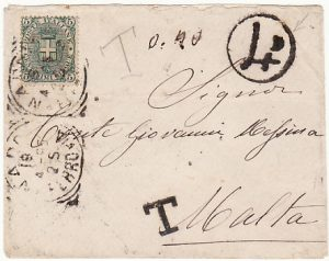 ITALY - MALTA…..4d POSTAGE DUE…