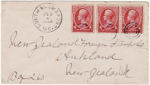 USA - NEW ZEALAND….1892 EARLY MAIL..