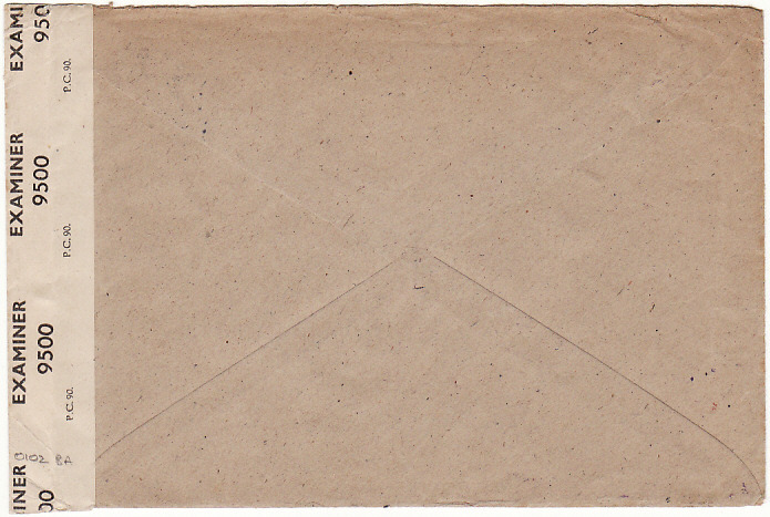 [16991]  GERMANY - USA…….1947 BRITISH ZONE RETURNED MAIL with CENSOR ENCLOSURE..  1947 (Feb 6)