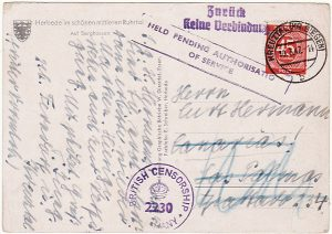 GERMANY - SPAIN….1947 ALLIED OCCUPATION RETURNED TO SENDER
