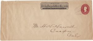 USA ...1887-94 WELLS FARGO & Co. 4c STATIONARY ENVELOPE…
