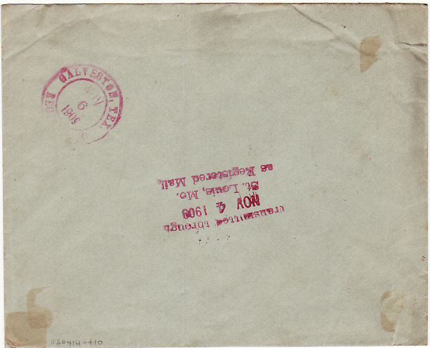 [17694]  TURKEY - USA...1908 ITALIAN POST OFFICE in CONSTANTINOPLE REGISTERED....  1908 (Oct 20)