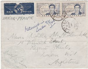 SENEGAL - GB…WW2 CONSULAR MAIL by AIR MAIL…