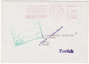 GERMANY - IRELAND…IRISH POSTAL STRIKE FEB-JUN 1979 SERVICE SUSPENDED…