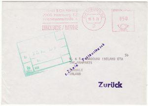 GERMANY - IRELAND…IRISH POSTAL STRIKE FEB-JUN 1979 SERVICE SUSPENDED…