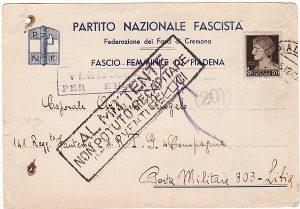 ITALY - LIBYA …WW2 NORTH AFRICA RETURN TO SENDER.....