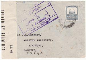 PALESTINE - IRAQ...WW2 CENSORED …