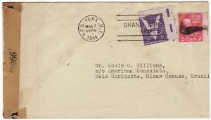 USA -  BRAZIL…WW2 CONSULAR MAIL from ORCHID SOCIETY…