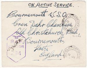 CYPRUS - GB...WW2 RAF CENSORSHIP…