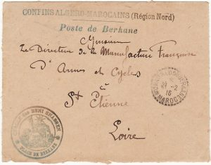 MOROCCO - FRANCE...WW1 MILITARY MAIL…