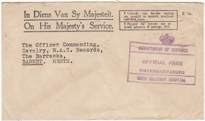 SOUTH AFRICA - GB….WW2 OHMS PENALTY ENVELOPE...