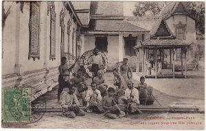 CAMBODIA - FRANCE... POST CARD SHOWING MUSICIANS..