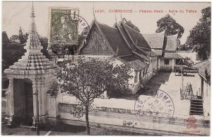 CAMBODIA - FRANCE...POST CARD of TEMPLE…