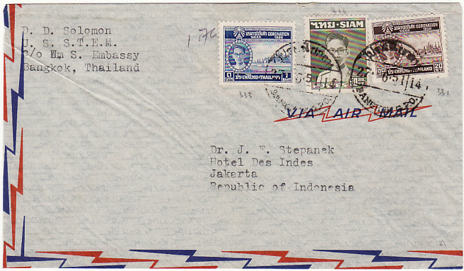 [16259]  THAILAND - INDONESIA...US EMBASSY...   1951 (Jun 27)