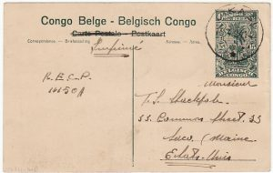 BELGIAN CONGO - USA…POSTCARD of OKAPI ..