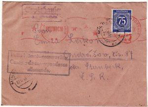 GERMANY - CZECHOSLOVAKIA…..ALLIED OCCUPATION of  GERMANY…