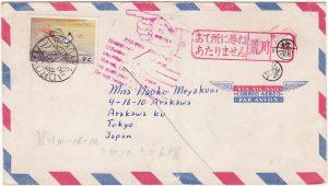 RYUKYU Is-JAPAN [US ADMINISTRATION FORCES MAIL RETURNED]