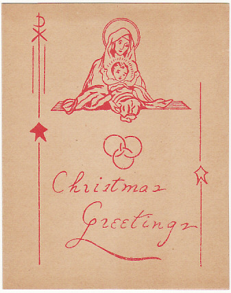 [17217]  HONG KONG-USA...1940 CENSORED PRINTED MATTER CHRISTMAS GREETING...  1940 (Nov 15)
