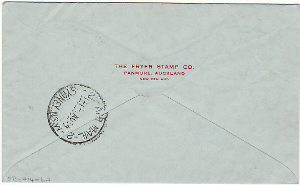 [17779]  PAPUA & N.G - USA...1934 PICTORIAL 1ST OFFICIAL AIR MAIL...  1934 (Jul 28)