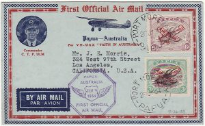 PAPUA & N.G - USA...1934 PICTORIAL 1ST OFFICIAL AIR MAIL...