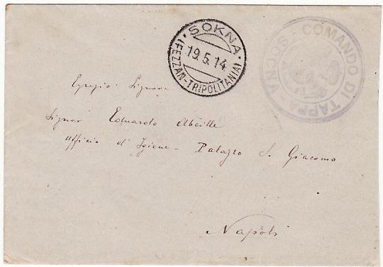 LIBYA - ITALY…1914 ITALIAN MILITARY FORCES in FEZZAN...