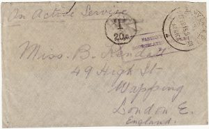 SOUTH WEST AFRICA - GB...WW1 CENSORED & TAXED…