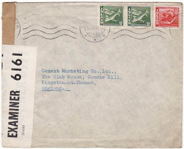 ICELAND - GB…1941 DOUBLE CENSORED …