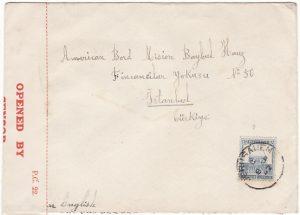PALESTINE - TURKEY...WW2 CENSORED …