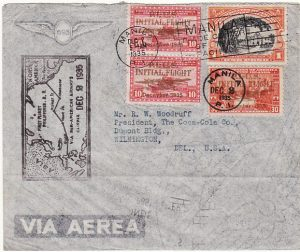 PHILIPPINE Is - USA…1935 Ist FLIGHT P.I.-U.S. Via PAN-AM….