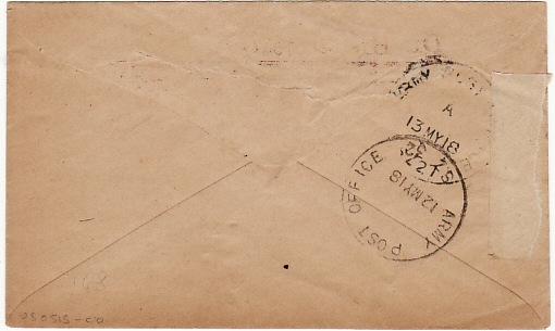 PALESTINE... WW1 INTERNAL MILITARY MAIL