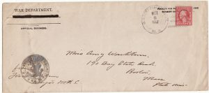 FRANCE-USA...WW1 WAR DEPARTMENT PENALTY ENVELOPE from A.E.F.....