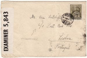 HUNGARY-PORTUGAL-GB [UNDERCOVER MAIL-BOX 506-DOUBLE CENSORED]
