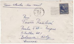 USA-CZECHOSLOVAKIA [PREXIE - CENSORED - AIRMAIL]