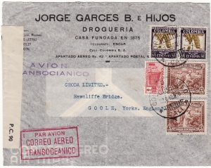 COLOMBIA-GB [WW2-AIRMAIL-CENSORED]