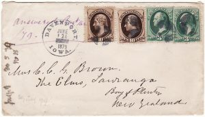USA - NEW ZEALAND….1879 EARLY MAIL..