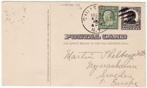 USA-SWEDEN [UPRATED McKINLEY ADVERTISING  POSTAL CARD to SWEDEN]