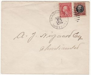 DANISH WEST INDIES [1917 COMBINATION D.W.I. & USA on ENVELOPE]
