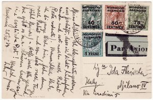 MOROCCO AGENCIES - ITALY…POSTCARD by AIRMAIL …