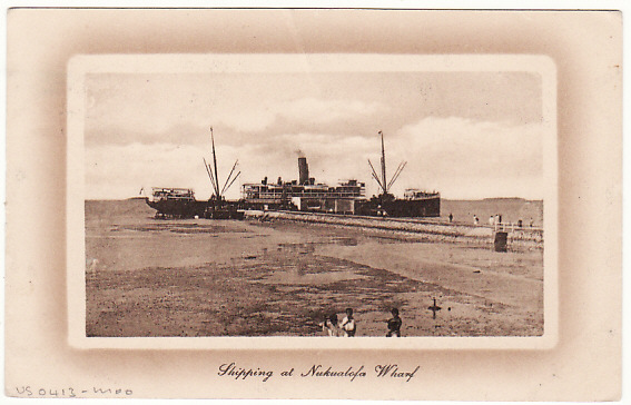 [16886]  TONGA-NEW ZEALAND [PICTURE POSTCARD-SHIPPING]  1910(Sep 30)