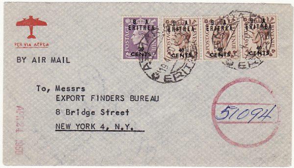 ERITREA-USA [B.O.F.I.C.-BRITISH ADMINISTRATION]