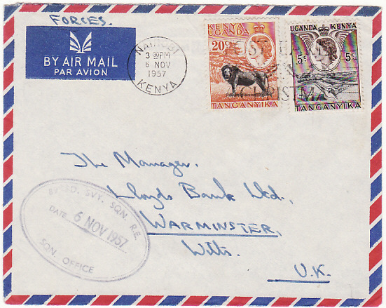 KENYA.. 1957 89 FIELD SURVEY SQN R.E....