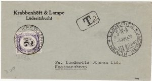 SOUTH WEST AFRICA [1939 INTERNAL POSTAGE DUE]