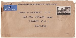 KENYA - GB …BRITISH FORCES at 2/6 RATE using modified OHMS envelope ....