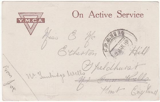 IRAQ - GB….WW1 GREETING'S FROM MESOPOTAMIA 1918-1919.…..
