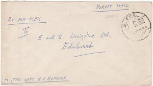 GREECE-GB...1946 WW2 INDIAN FIELD POST...