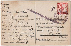CROATIA - GB..1919 UNSETTLED PERIOD  ...