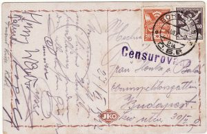 CZECHOSLOVAKIA - HUNGARY..1922 CENSORED in UNSETTLED PERIOD  ...