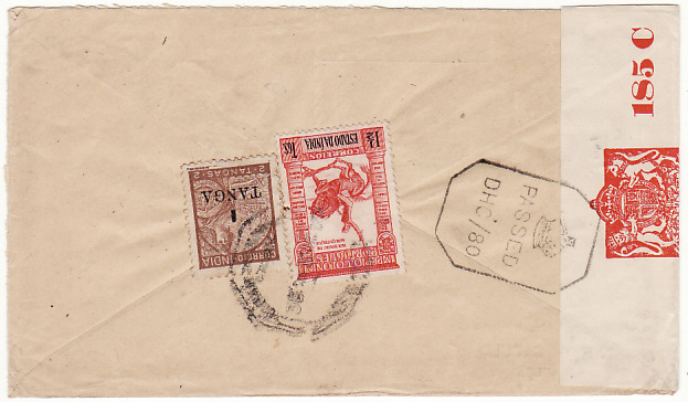[18961]  PORTUGUESE INDIA - USA… WW2 CENSORED ...  1942 (Oct 22)